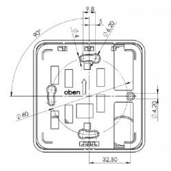 Pt100 diamètre 3 x 50 mm 2 fils PTFE 150 mm