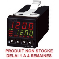 Régulateur programmateur auto adaptatif self tuning 48 x 48 entrée univ. alim. 230 Vac sortie log. + 3 relais + 4/20 mA + RS485