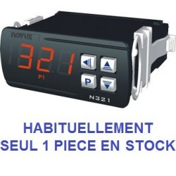 Indicateur thermostat entrée TC J, K, T alimentation 230 Vac, 1 relais de sortie