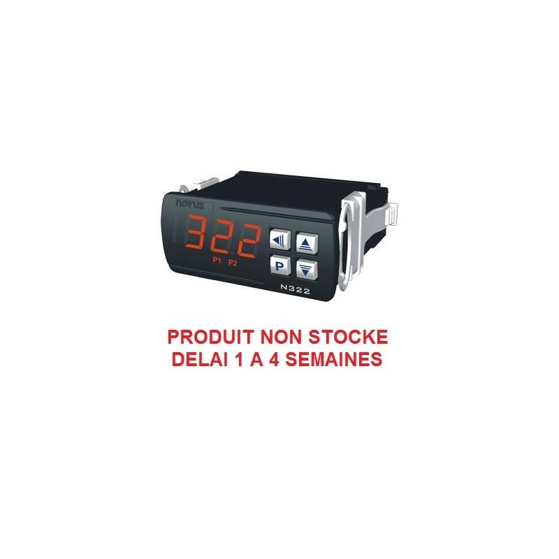 Indicateur thermostat entrée Pt100 alimentation 230 Vac, 2 relais de sortie + RS485