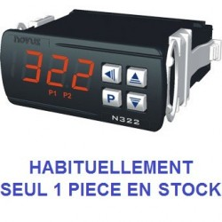 Indicateur thermostat entrée TC J, K,T alimentation 12-24 Vdc, 2 relais de sortie