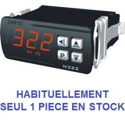 Indicateur thermostat entrée TC J, K,T alimentation 12-24 Vdc, 2 relais de sortie