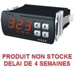 Indicateur thermostat entrée Pt100 alimentation 12-24 Vdc, 3 relais de sortie + RS 485