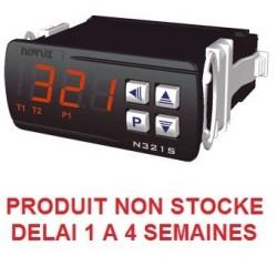 Thermostat différentiel 1 relais livré avec 2 capteurs alimentation 230 Vac + RS485