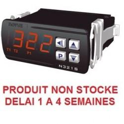 Thermostat différentiel 2 relais livré avec 2 capteurs alimentation 230 Vac + RS485