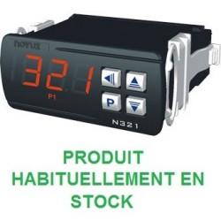 Indicateur thermostat entrée NTC, sonde 6mm compatible pour montage en doigt de gant, alimentation 230 Vac, 1 relais de sortie