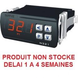 Indicateur thermostat entrée NTC sonde 6mm compatible pour montage en doigt de gant, Alimentation 12-24 Vdc, 1 relais de sortie