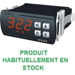 Indicateur thermostat entrée NTC sonde 6mm compatible pour montage en doigt de gant, alimentation 230 Vac, 2 relais de sortie