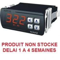 Indicateur thermostat entrée NTC, sonde 6x 50 compatible doigt de gant, alimentation 230 Vac, 2 relais de sortie + RS485