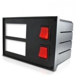 Boîtier d'intégration plastique pour 2 indicateurs ou thermostats électroniques