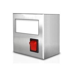 Boîtier d'intégration inox pour 1 indicateur ou thermostat électronique