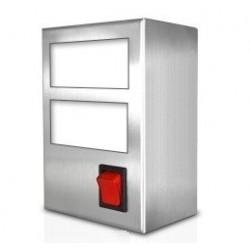 Boîtier d'intégration inox pour 2 indicateurs ou thermostats électroniques