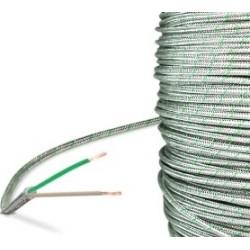 Cable thermocouple K isolé soie de verre