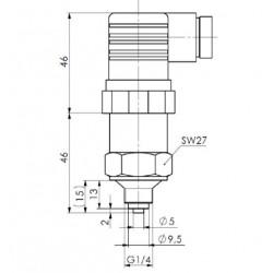 CAPTEUR SIGNAL 4 / 20 mA 1/4 GAZ