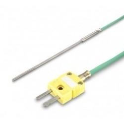 Thermocouple chemisé K, sortie câble silicone avec connecteur miniature
