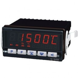 Indicateur 48 x 96 entrée universelle alimentation 24  Vdc 2 relais