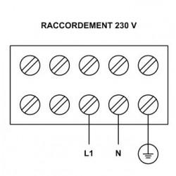 """Elément vissé 1 1/2"""", 1 circuit, 230 V 3000 W, température réglable"""