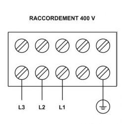 """Elément vissé 1 1/2"""", 3 circuits, 400 V 7500 W, température réglable"""
