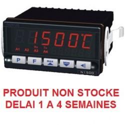 Indicateur 48 x 96 entrée universelle alimentation 230 Vac 4 relais et sortie 4-20 mA