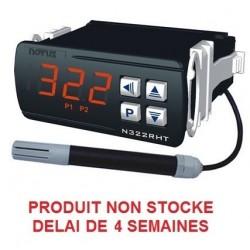 Indicateur thermostat humidité et température en 24 V ac/dc, 2 relais + RS485
