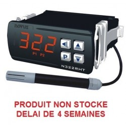 Indicateur thermostat humidité et température en 230 Vac, 3 relais + RS485