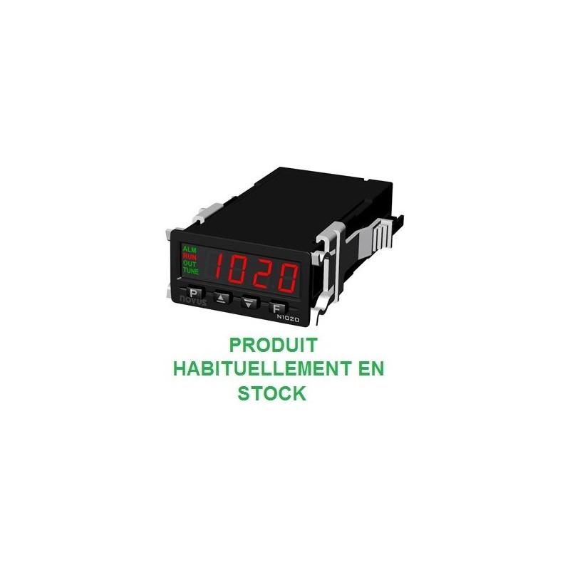 Régulateur 24 x 48 entrée universelle alimentation 230 Vac et 24 Vdc sortie logique + relais
