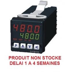 Régulateur 48 x 48 entrée universelle alimentation 24 Vac/dc sortie logique + 2 relais