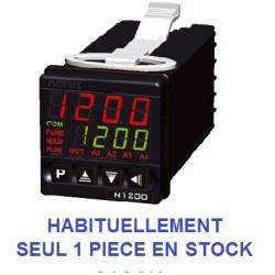 Régulateur programmateur auto adaptatif self tuning 48 x 48 entrée univ. alim. 230 Vac sortie logique + 2 relais + 4/20 mA